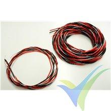 Cable de servo premium, 2x 0.5mm2 + 1x 0.14mm2, Emcotec R8987, 5m