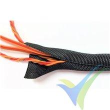 Manguito de malla Emcotec para protección de cables, cierre automático, 13mm, 5m