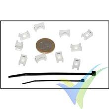 Soporte atornillable para fijación con bridas, Emcotec A86055, 10 uds