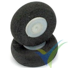 Dubro 100MW Parkflyer foam wheel 25mm, 1.2mm shaft, 0.9g, 2 pcs