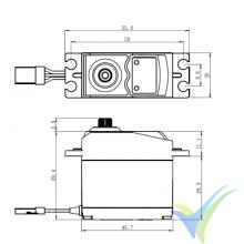 Servo digital Savox SC-0252MG, 49g, 10.5Kg.cm, 0.19s/60º, 4.8V-6V