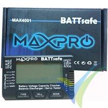 Comprobador baterías Maxpro BATTsafe