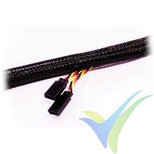 Manguito de malla para protección de cables, cierre automático, 6mm, 1m