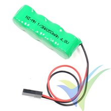 Batería receptor Ni-MH 350mAh, 4.8V, 1/3AA, 31g