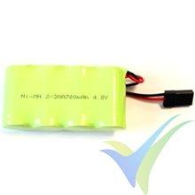 Batería receptor Ni-MH 700mAh, 4.8V, 2/3AA, 58g