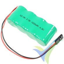 Ni-MH 1600mAh Rx battery, 4.8V, 2/3A, 91g