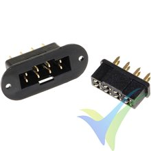 Hstr Connector Plugs 8-Pin with housing Black, 1 Pair