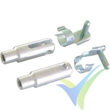 Kwik link aluminio reforzado M3, pasador 3mm, con clip seguridad, 2 uds