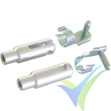 Clevis M3 Aluminum With 3.0mm pin, 2pcs