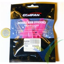"""Hélice tripala rosa GEMFAN 3x5.2"""" (normal + invertida) alta eficiencia, 2 parejas"""