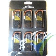 Batería LiPo Tattu - Gens ace 350mAh (1.3Wh) 30C 1S1P 9.3g Molex, 6 uds