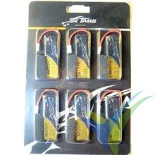 Batería LiPo Tattu - Gens ace 600mAh (2.22Wh) 30C 1S1P 15.7g JST, 6 unidades