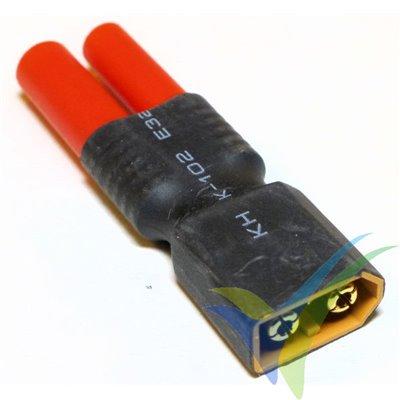 Adaptador de conector HXT 4mm macho-hembra a XT60 macho