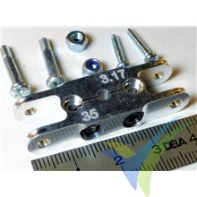 Centerpiece Turbo Spinner 35/3.17/8mm With Clamp Fastening