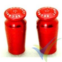 Secraft switch cap 21mm red, 5.5mm hole, 2 pcs