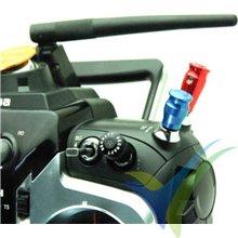 Capuchón aluminio Secraft 21mm para interruptor emisora, taladro 5.5mm, rojo, 2 uds