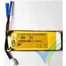 Batería LiPo VueloVerde Competition serie Beta 1000mAh (7.4Wh) 2S1P 30C, para F5J 50g