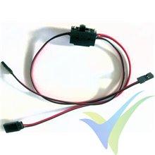 Interruptor de alimentación pequeño con cable de carga de 40cm