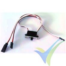 Interruptor de alimentación grande con cable de carga, 40cm