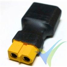 Adaptador de conector XT60 hembra a XT90 macho, 11.1g