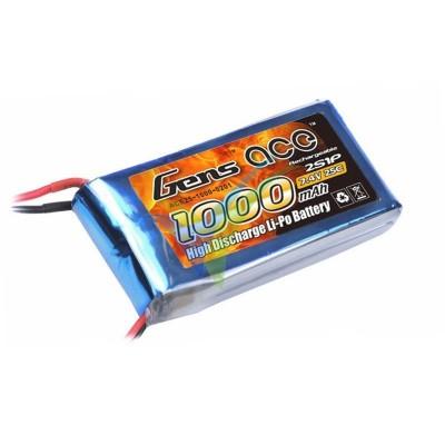 Batería LiPo Gens ace 1000mAh (7.4Wh) 2S1P 25C 68g
