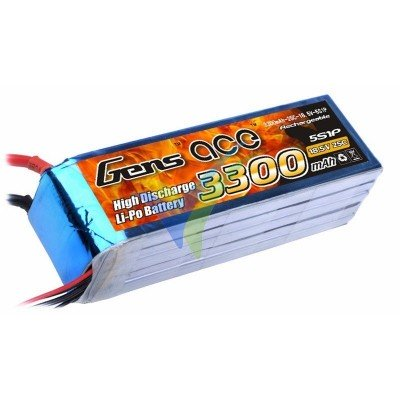 Batería LiPo Gens ace 3300mAh (61.05Wh) 5S1P 25C 417g