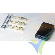 Conector servo macho compatible JR, metalizado oro, 1 ud
