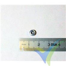 Rodamiento a bolas 6x2x3mm, 0.3g