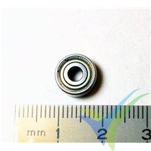 Rodamiento a bolas 9.525x3.175x3.967mm, 1.3g