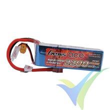 Batería LiPo Gens ace 2200mAh (24.42Wh) 3S1P 45C 189g Deans