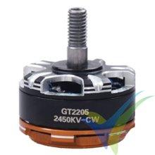 Motor brushless GEMFAN GT2205L, 2450Kv, para multirrotor