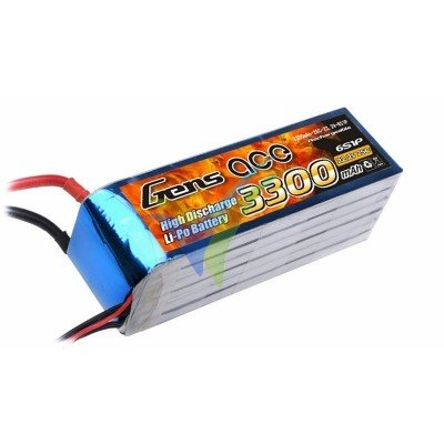 Batería LiPo Gens ace 3300mAh (73.26Wh) 6S1P 25C 498g