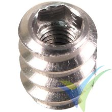 Alu threaded hex socket insert M3, 10 pcs