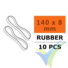 G-Force Wing Rubber Bands 140x8mm, 10 pcs