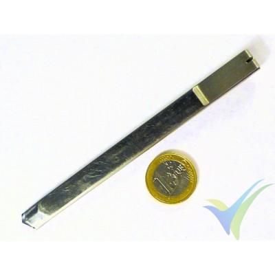 Cutter de acero inoxidable, 130mm, tipo lápiz con clip, sin bloqueo