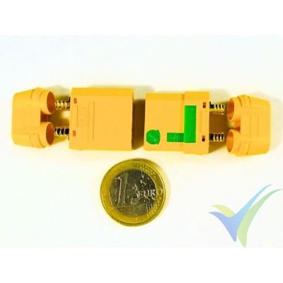 Conector XT90 antichispas, metalizado oro, macho y hembra