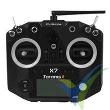 Emisora FrSky Taranis Q X7 negra, 16 canales (sólo emisora)