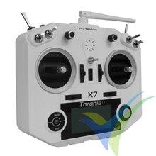 Emisora FrSky Taranis Q X7 blanca, 16 canales (sólo emisora)