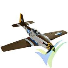 "Combo avión Nicesky P-51 Mustang ""Janie"" PNP, 680mm, 260g"
