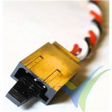 Prolongador trenzado cable de servo universal con clip seguridad, 10cm, 3g, 0.33mm2 (22AWG)