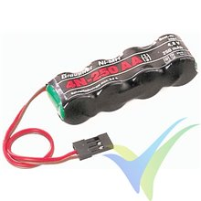 Batería receptor Ni-MH 300mAh, 4.8V, Graupner 4N-250 1/3AA, 36g
