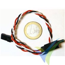 Universal Servo Cable Extension with Safety Clip, 20cm, 4.7g, 0.33mm2 (22AWG)
