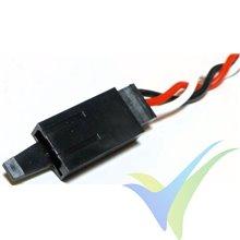Prolongador trenzado cable de servo universal con clip seguridad, 40cm, 0.33mm2 (22AWG)