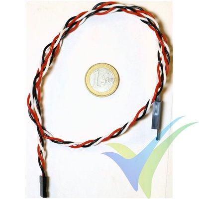 Prolongador trenzado cable de servo universal con clip seguridad, 50cm, 0.33mm2 (22AWG)