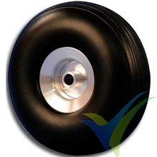 Rueda Topmodel 76x28mm ECOTOP con llanta aluminio, 44.3g, 2 uds