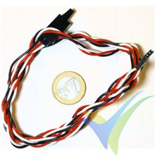 Universal Servo Cable Extension with Safety Clip, 100cm, 16.5g, 0.33mm2 (22AWG)
