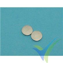 Round neodymium magnet 12x2mm, 2 pcs