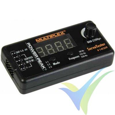 Probador de servos Multiplex Powerpeak (servo tester)