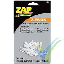 Puntas aplicadoras cianoacrilato ZAP Z-ENDS, 10 uds