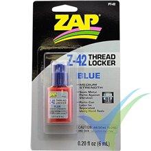 Fijatornillos desmontable ZAP PT-42 azul, 6ml